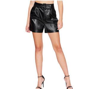 NWT BEBE | Faux Leather High Rise Vegan Shorts